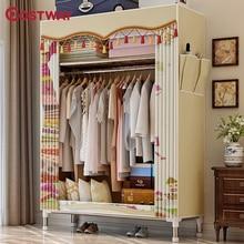 COSTWAY Cloth Wardrobe For clothes Fabric Folding Portable Closet Storage Cabinet Bedroom Home Furniture armario ropero