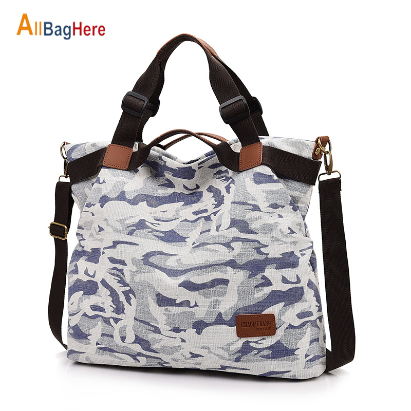New 2020 Women Camouflage Shopping Handbags Fashion Large Capacity Travel Shoulder Denim Bags Vintage Casual Crossbody Tote Pack