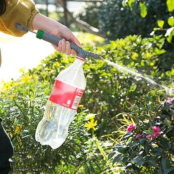 High Pressure Manual Air Pump Manual Sprayer Plastic Portable Adjustable Drink Bottle Spray Head Nozzle Garden Watering Tools