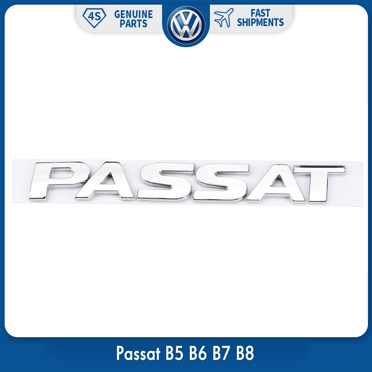 OEM Original Rear Trunk Lid Chrome Silver Emblem Sticker Passat for VW Volkswagen Passat B5 B6 B7 B8