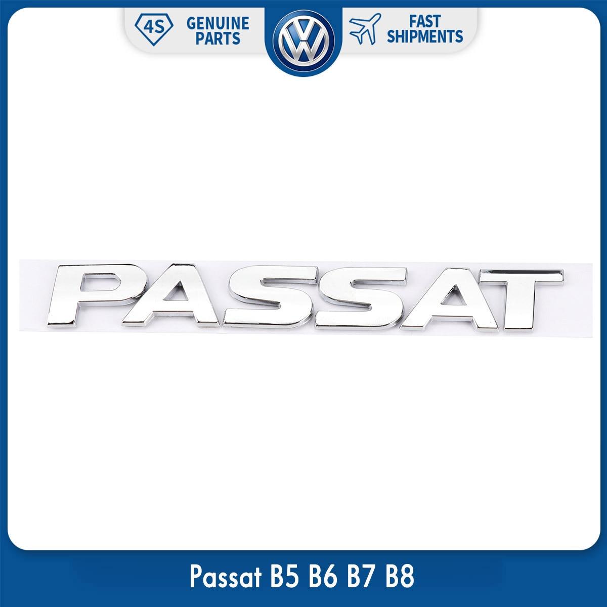OEM оригинальная Задняя Крышка багажника, хромированная Серебристая эмблема, наклейка Passat для VW Volkswagen Passat B5 B6 B7 B8|Наклейки на автомобиль| | АлиЭкспресс