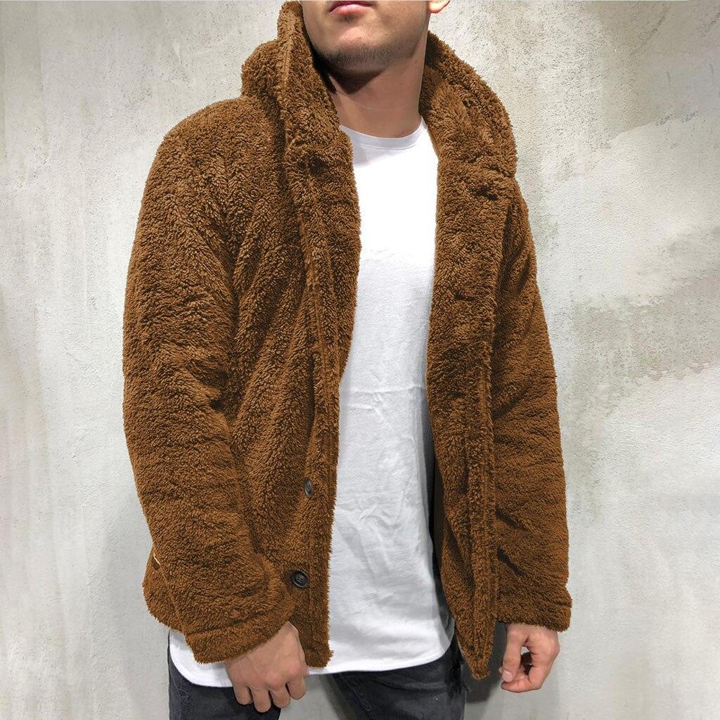 Bomber Jacket Men Winter Thick Warm Fleece Teddy Coat for Mens SportWear Tracksuit Male Fluffy Fleece Hoodies Coat Outwear warm 1
