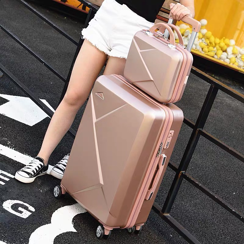 2PCS Luggage Set ABS+PC Travel Suitcase Rollong Luggage Spinner Wheels 20'' Cabin Trolley Luggage Carry On Suitcase 24 Inch Bag