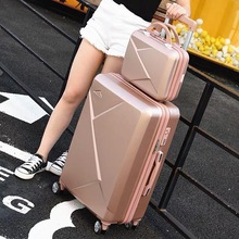 Luggage-Set Suitcase Spinner-Wheels Cabin Trolley 24inch-Bag Rollong Carry-On ABS 2PCS