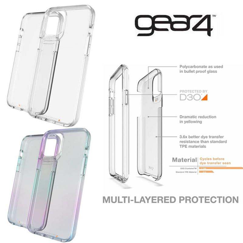 Original Gear4 Gear 4 Crystal Palace Case Cover D30 Drop Impact Protection Case For Apple iPhone 12/12 Pro/12 mini/12 Pro Max