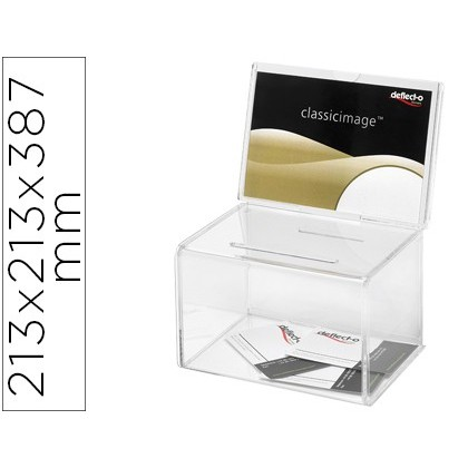 MAILBOX SUGGESTION ARCHIVE 2000 TRANSPARENT CRYSTAL COLOR 213X213X387 MM
