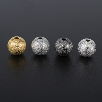 OZEN 100Pcs/lot Round Copper Spacer Beads Frosted Ball Matte Beads For Necklace Bracelet Jewelry Making