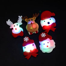 New Hot Christmas Headband Light Up Hat Glasses Pen Brooch Accessories Decoration For Party Holiday