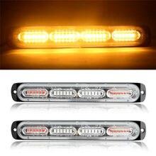 2pcs estroboscópios estroboscópios 24 led flash light auto 12-24v emergência piscando lado marcador luz barras strobe luz