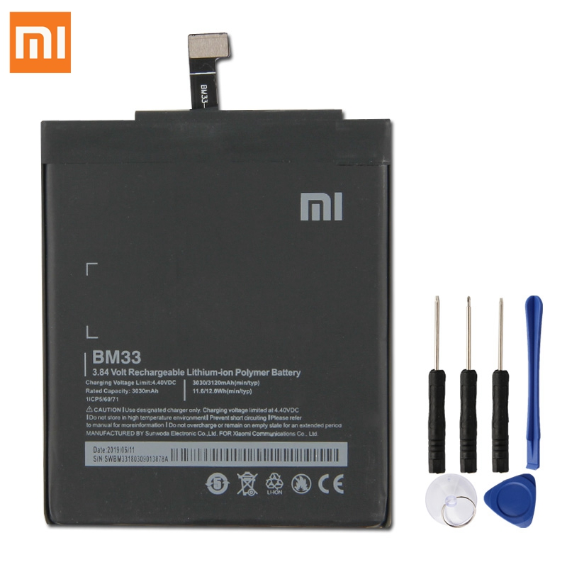 Original XIAOMI BM33 Replacement <font><b>Battery</b></font> For XIAOMI <font><b>Mi</b></font> <font><b>4i</b></font> Mi4i Authentic Phone <font><b>Batteries</b></font> 3120mAh image