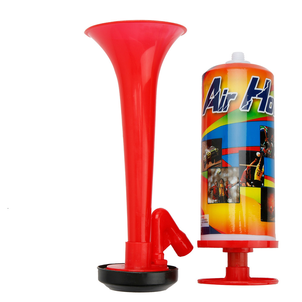 Drop Ship Hand Push Air Fan Horn Sports Cheer Club Trumpet Kids Children Toy Pump Soccer Ball Games Cheerleading Loud Speaker