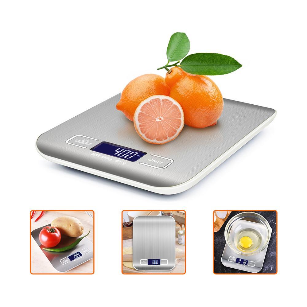 Кухонные весы с ЖК-дисплеем, высокоточные карманные весы 1 г 0,1 г 0,01 г х 500 г 5 кг 10 кг, ювелирные весы для фруктов, овощей, кофе-1