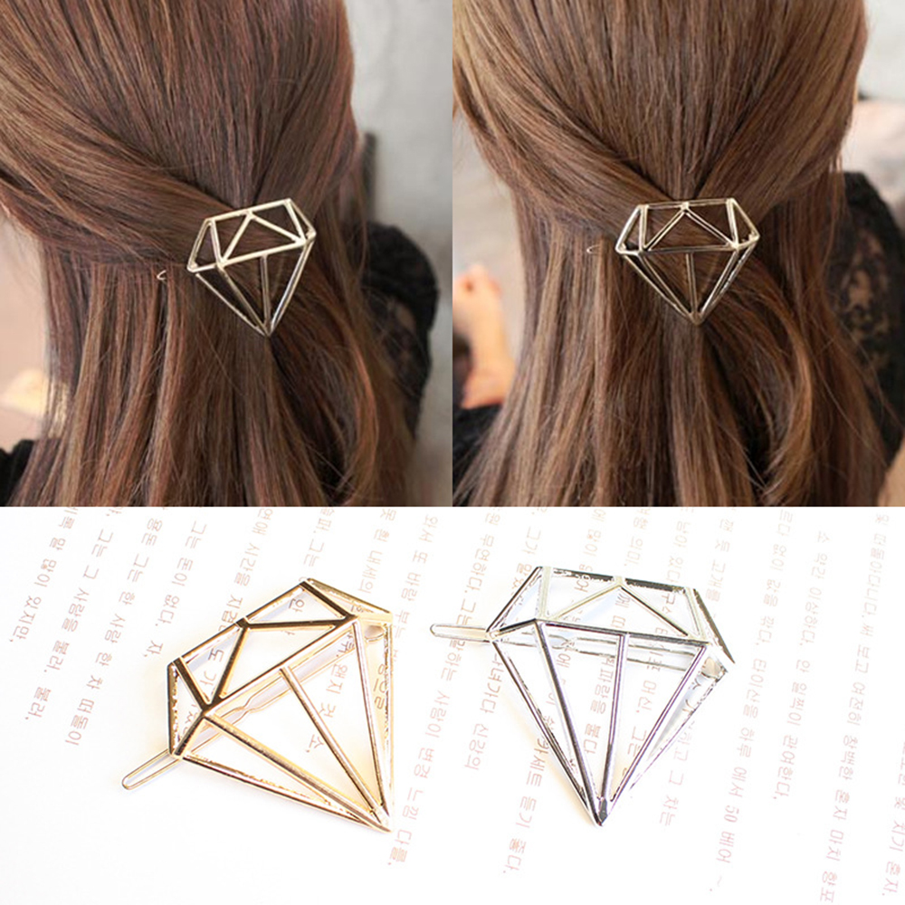 Popular Triangle Moon Five-pointed Star Lip Deer Head Alloy Hairpin For Women 2019 Fashion Hair Accessories