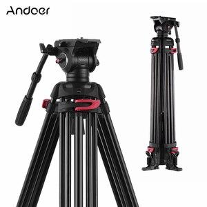 Image 1 - Andoer professionnel photographie trépied support Aluminium fluide hydraulique bol tête pour Canon Nikon Sony DSLR appareils photo