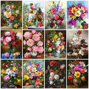 Evershine 5D Diamond Painting Flowers Full Square Drill New Arrival Mosaic Embroidery Vase Painting Rhinestone Home Decor