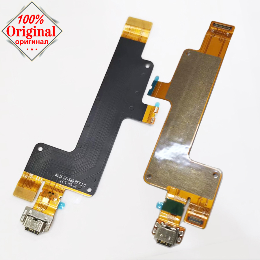 Original USB Charging Port Dock Flex Cable For Sony Xperia 10 plus Charger Plug Mainboard connector ribbon Replacement parts
