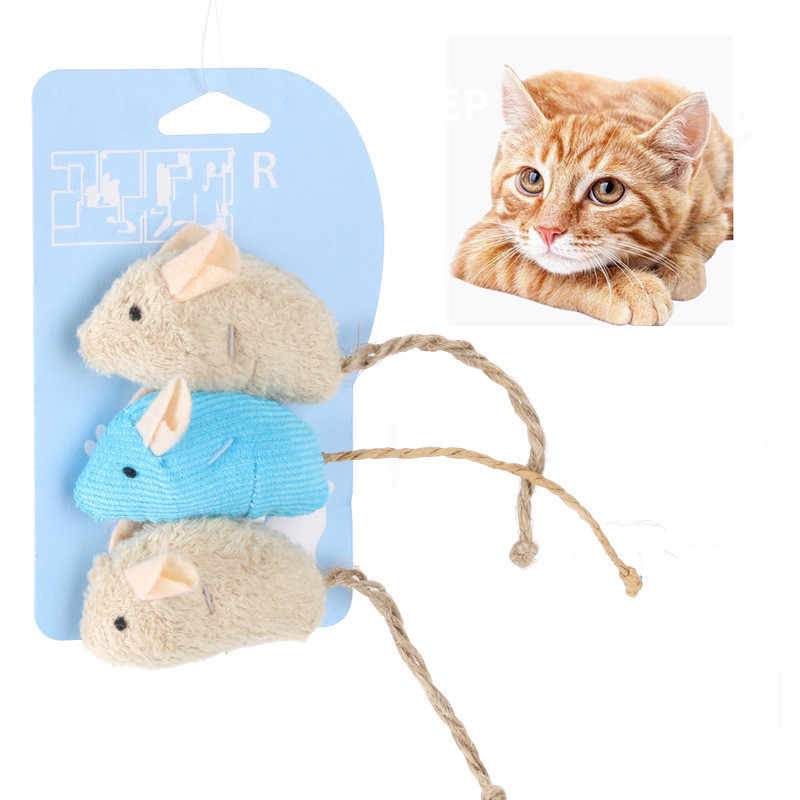 3 Buah/Banyak Campuran PET Catnip Tikus Kucing Mainan Menyenangkan Plush Mouse Kucing Mainan untuk Hewan Peliharaan Sedikit Lemak Mouse Kucing Mainan