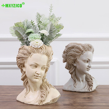 Get more info on the Greek Goddess Simulation Plaster Head Flower Pot Desktop Retro Succulent Plant Bonsai Handmade Home Decoration