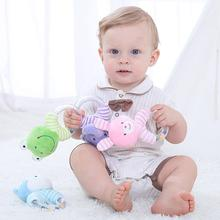 Rattles For Baby Kids Toys 0 6 12 13 24 Months Educational Toys From 0 Developmental Newborn Infants Hand Grip Cute Animals Frog