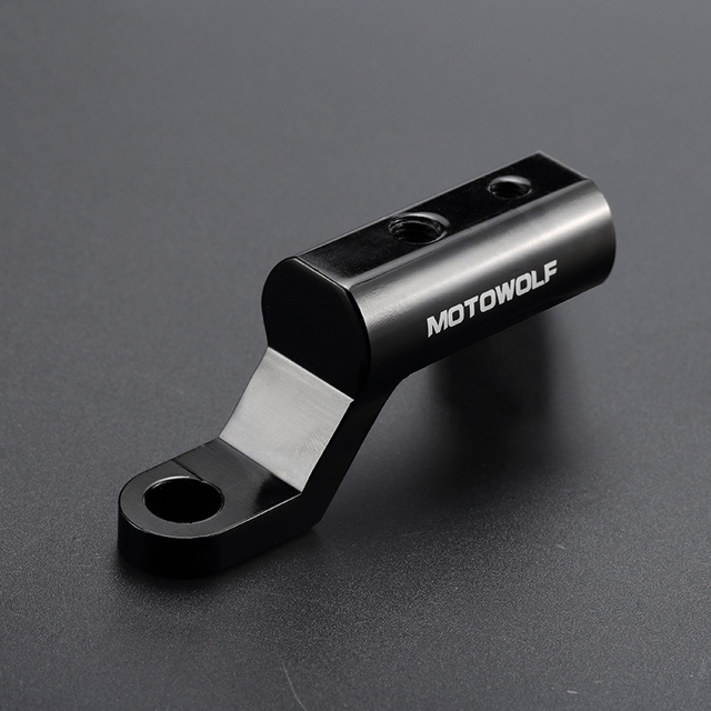 Motorcycle Expansion Rack Rear View Handlebar Mirror Mount Adapter  Motorbike Light Expansion Bracket Phone Holder Stand