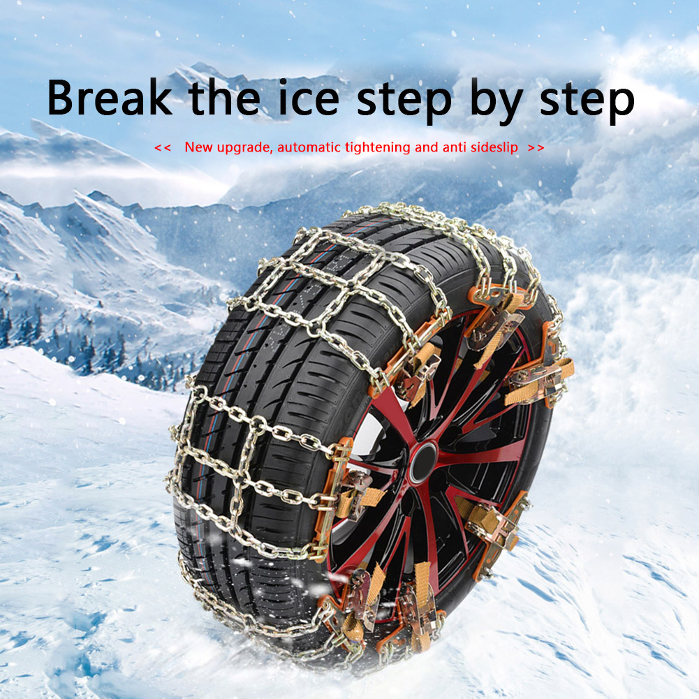 Universial Car Snow Chains Winter Use Car Tire Chain for Snow Ice Road Steel Tyre Traction Chain Universal Auto Tools car access 1