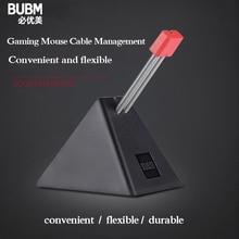 BUBM fare kablosu tutucu, kordon klip tel organizatör, tel kordon kablo yönetimi tutucu fareler için mükemmel oyun oyun CS CF LOL
