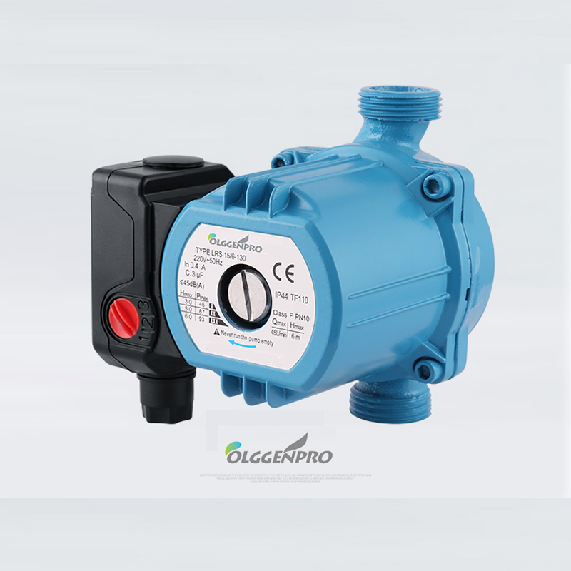 Central Heating Circulator 3-Speed 120W Mute Boiler Hot Water Circulating Pump Cast Iron F Class Insulation IP42 Protection 220V