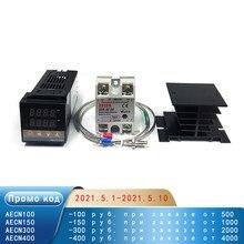 REX-C100 contrôleur de température numérique PID Thermostat sortie SSR + Max.40A SSR relais + K sonde de Thermocouple de haute qualité RKC