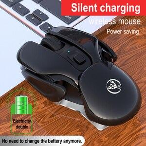 Image 3 - SeenDa перезаряжаемая беспроводная мышь бесшумный щелчок дизайн USB беспроводная мышь для ноутбука ноутбук Настольный 1600 точек/дюйм регулируемый