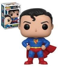 Funko pop justice league super herói superman 215 #85 #207 #3 modelo figuras de brinquedo ação coleção boneca brinquedos para crianças