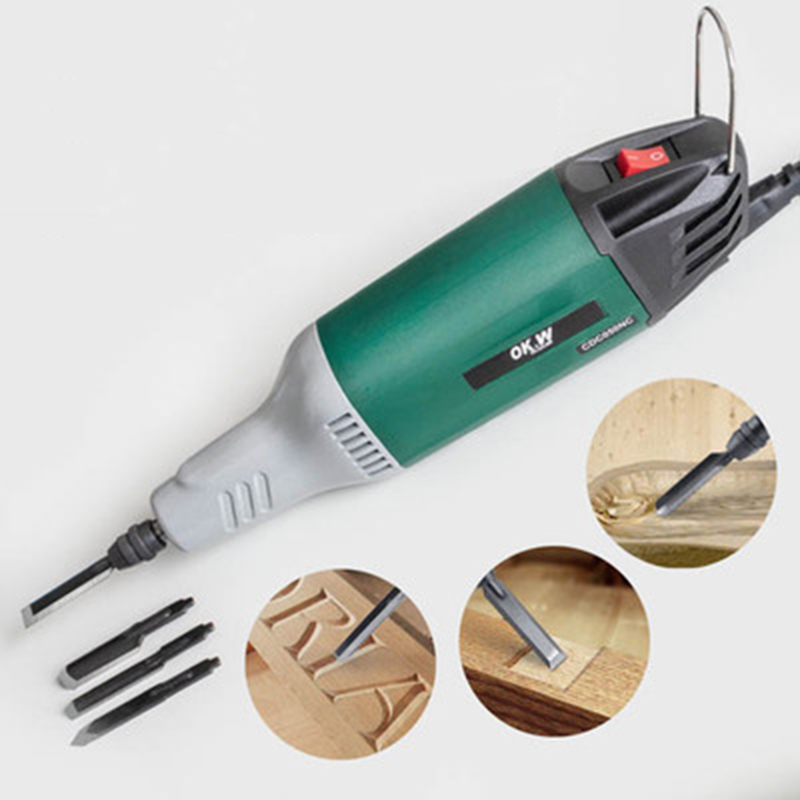 Woodworking Engraving Machine Small Carving Wood Carving Flower Power Tool Diy Wood Hand-held Household Mini