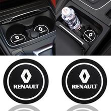 Coaster Shaper Scenic Megane Laguna Renault Clio for Car 2/3-captur/Latitude 2pcs Car-Decoration