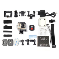 Ultra HD 4K экшн-камера, WiFi, пульт дистанционного управления, Спортивная камера Go, водонепроницаемая, профессиональная камера на шлем, Спортивна...