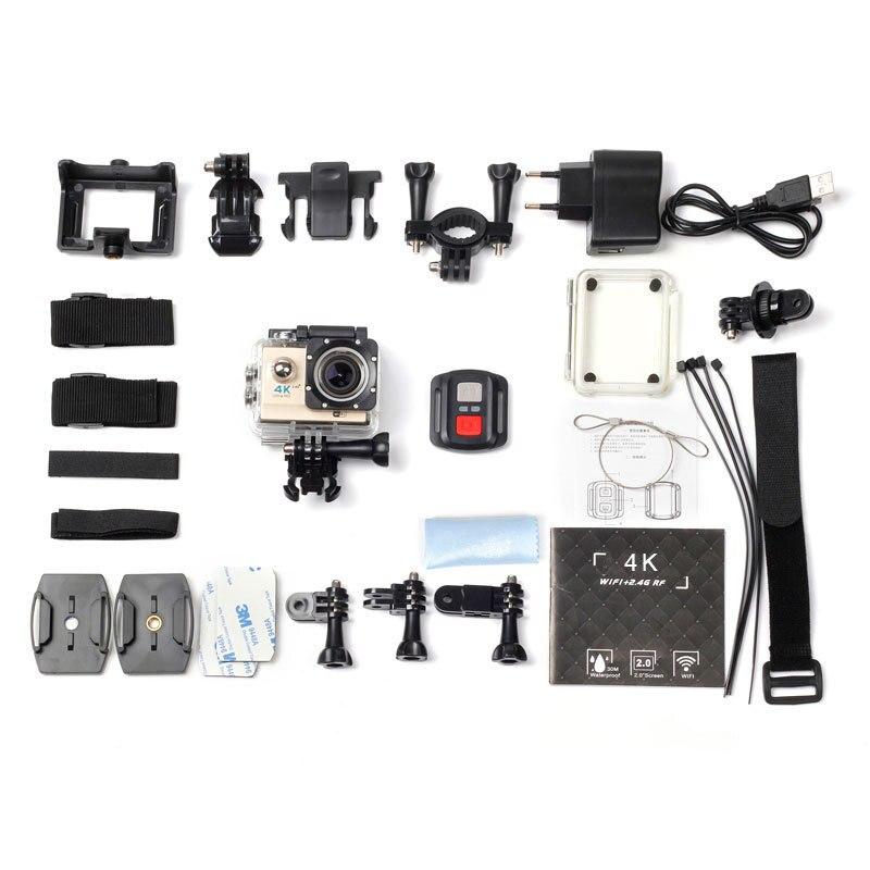 Ultra HD 4K Action caméra WiFi télécommande Sport caméra aller étanche Pro casque caméra Sport DV 170 degrés Angle caméra