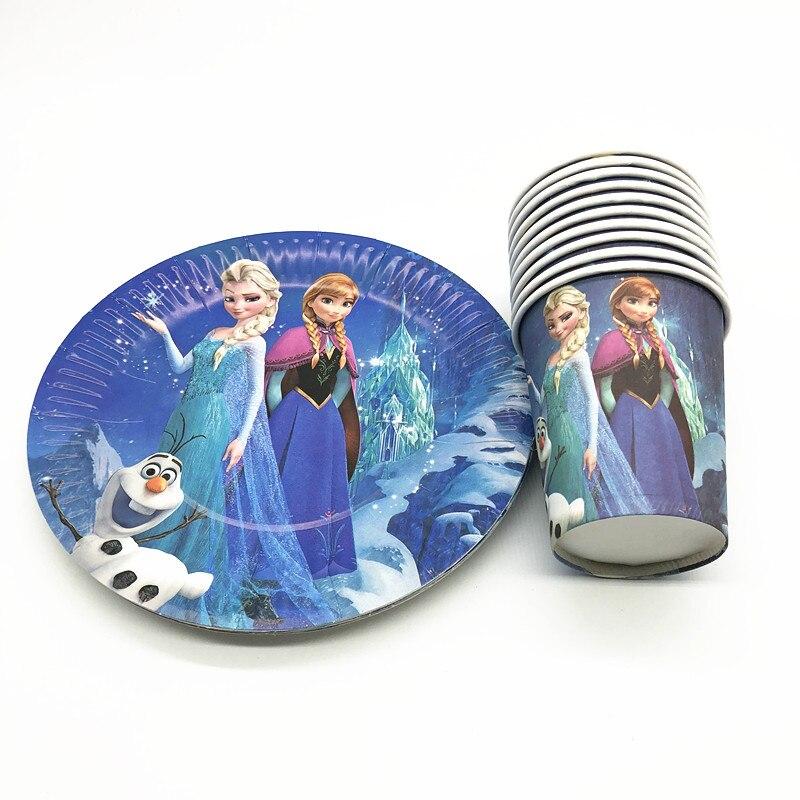 20 шт., одноразовые наборы посуды для детского дня рождения