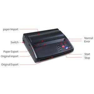 Image 5 - Impressora térmica da copiadora da máquina de transferência do fabricante do estêncil da tatuagem com presente 10 partes papéis