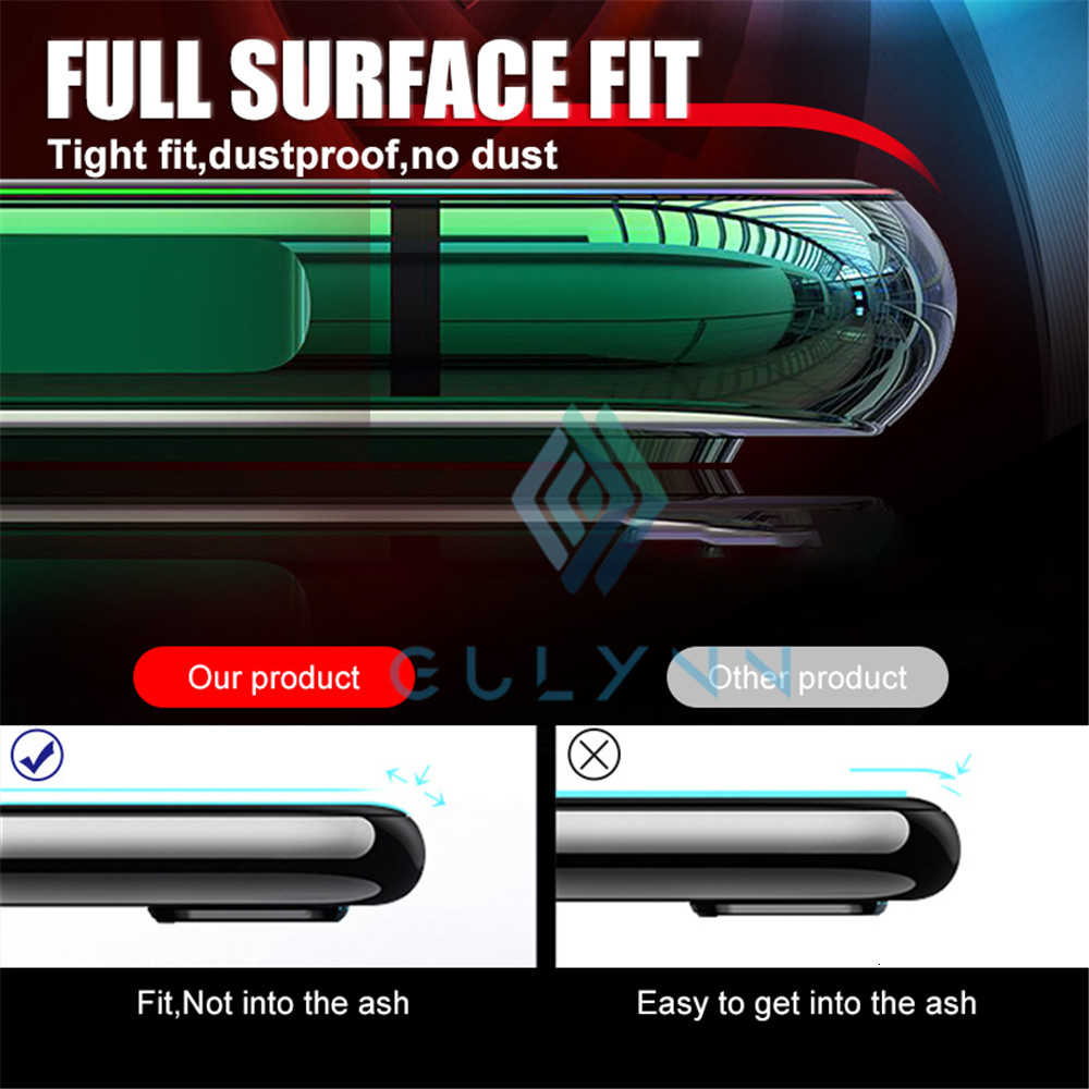 66D Curved Edge Full Cover Back Film For Huawei Mate 20 30 P30 Lite Pro Honor 20 9X Screen Protector Hydrogel Film Not Glass