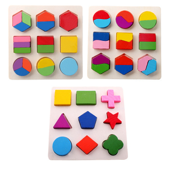 Wooden Montessori Toys Early Educational Leaning Toys Funny Puzzle Hand Board Color Geometry Shape Matching Kids Baby Game Toy simingyou wooden toys puzzle color toy for color exerciseand shape identification exercise drop shipping