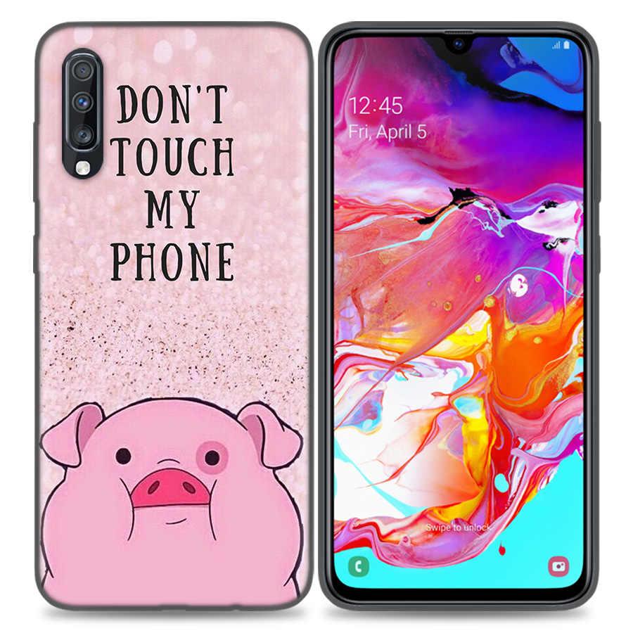 Sevimli PEMBE Kawai Domuz Çanta Coque Telefon samsung kılıfı Galaxy S8 S9 A50 S10 S10e Artı 5G A10 A20 A30 a40 A60 A70 Arka Kapakları