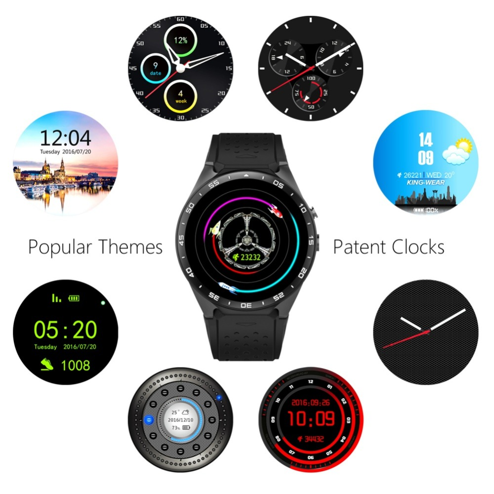 EDAL KW88 Smart Watch 1.39 Android 5.0 2.0MP Camera Bluetooth Smartwatch Support Sim Card GPS 512MB + 4GB for IOS Android