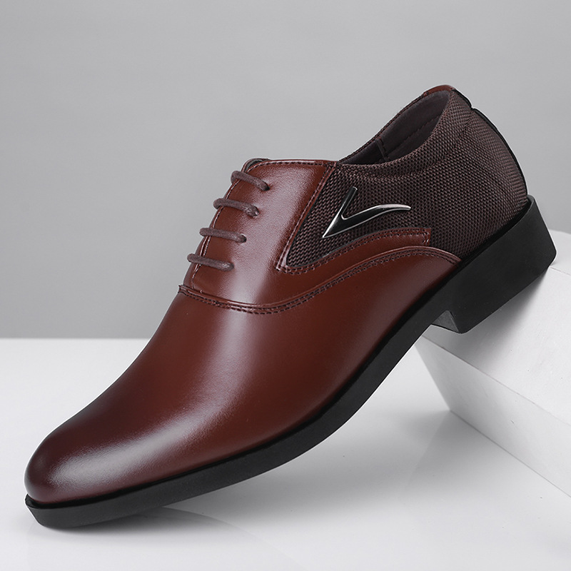 Newest Luxury Brand Classic Man Pointed Toe Dress Shoes  Pu Leather Black Wedding Shoes Male Oxford Formal Plus Size 38-48