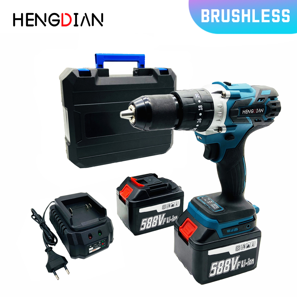 18V hammer <font><b>impact</b></font> <font><b>drill</b></font> <font><b>Electric</b></font> <font><b>Drill</b></font> <font><b>Cordless</b></font> lithium Battery Multifunctional <font><b>ScrewDriver</b></font> 20-speed tools image
