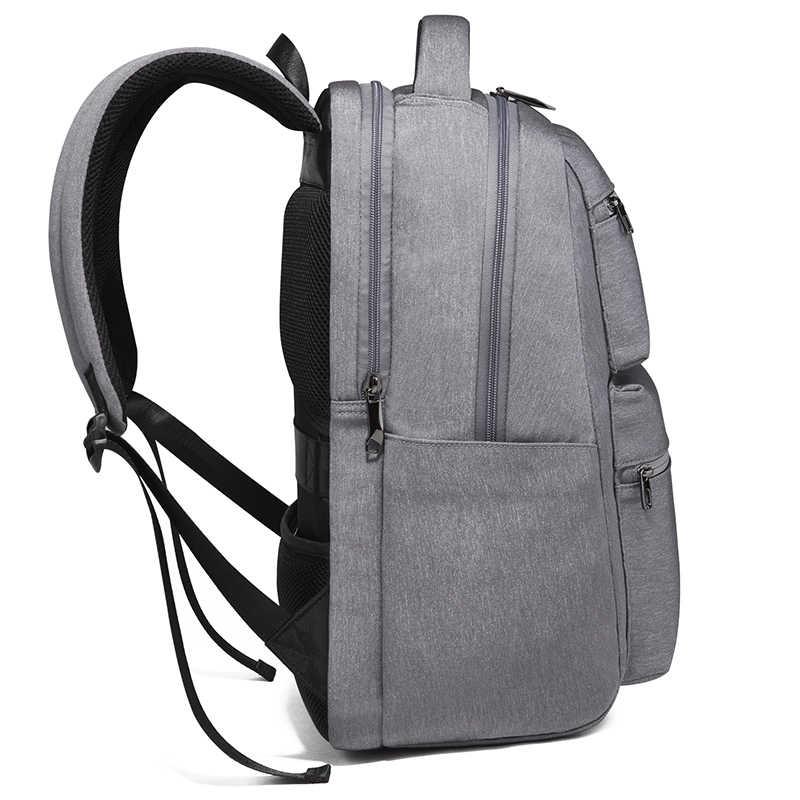 TIANHOO nowe męskie modne plecaki wielofunkcyjna torba na komputer studentka USB wodoodporny plecak