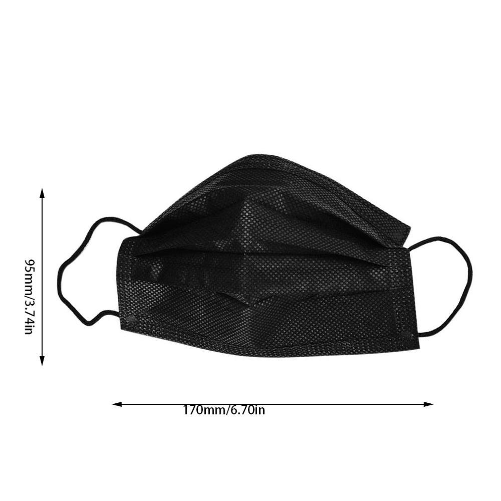 black surgical mask cotton