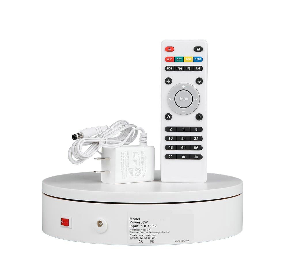 HQ R02 Remote Control Electric Rotating Turntable Display Stand Lazy Susan Base Automatic Rotary Revolving Exhibition Platform