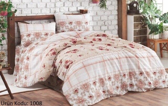 100% من القطن طقم غطاء السرير مزدوجة 2