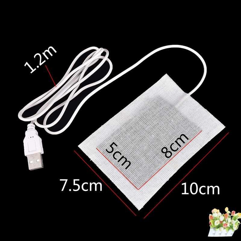 USB pad Termico di Inverno Riscaldamento Riscaldatore per il Mouse Pad Scarpe Golve Mano Calda Mouse Pad In Fibra di Carbonio Riscaldamento Pad 5V Portatile Caldo Piatto