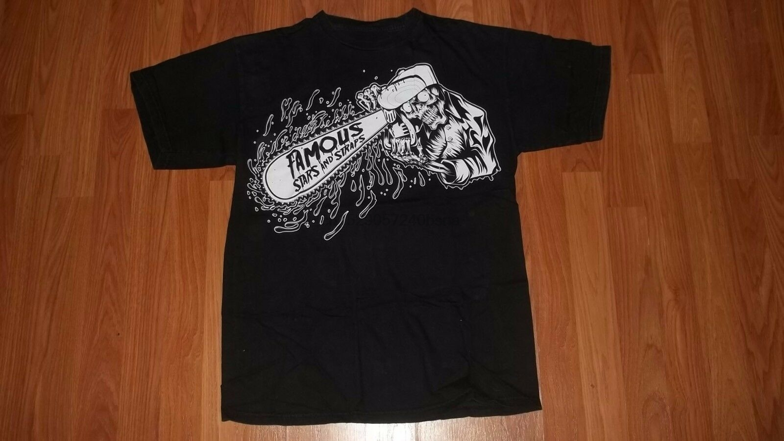(1 SIDED) FAMOUS Stars and Straps Chainsaw SUICIDAL TENDENCIES Style T-Shirt Short Sleeve O-Neck Cotton T shirt