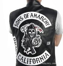 Disfraz de Cosplay de Sons of Anarchy para hombre, chaqueta con capucha y cremallera, abrigo cálido, Sudadera con capucha, novedad