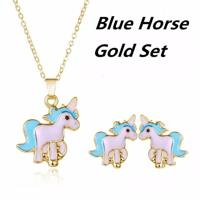 3PCS/Set Pink Horse Unicorn...